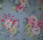 Ceramic Wall Tiles Made With Spring Bouquet by Cath Kidston in Grey